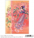 TDR047 Papier To-DO R047 Japanese Geisha Roses 35 x 50 cm