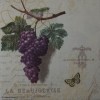 AMB13305915 - Serwetki do decoupage PURPLE GRAPES CREAM WINGRONA - 2szt