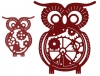 B383 Wykrojnik Owls with Gears (Set of 2) (Steampunk Series) - Cheery Lynn Design