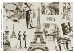 ITDR057 Papier Ryżowy do Decoupage Paris A4 297 x 210 mm